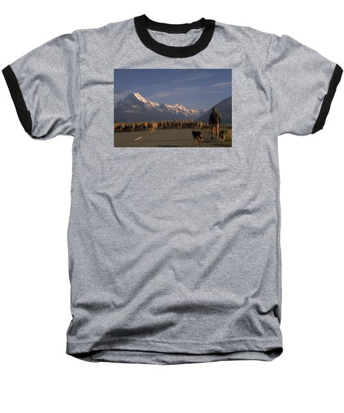 New Zealand Mt Cook Baseball T-Shirt by Travel Pics