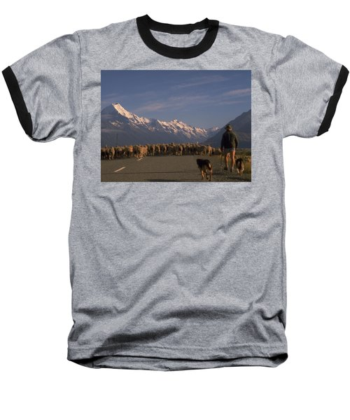 New Zealand Mt Cook Baseball T-Shirt