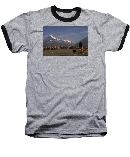 New Zealand Mt Cook Baseball T-Shirt