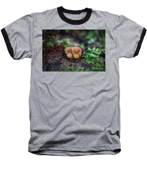 Newborn Mushroom Close-up Baseball T-Shirt