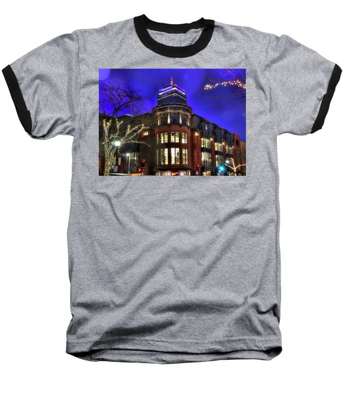Baseball T-Shirt featuring the photograph Newbury Street And The Prudential - Back Bay - Boston by Joann Vitali