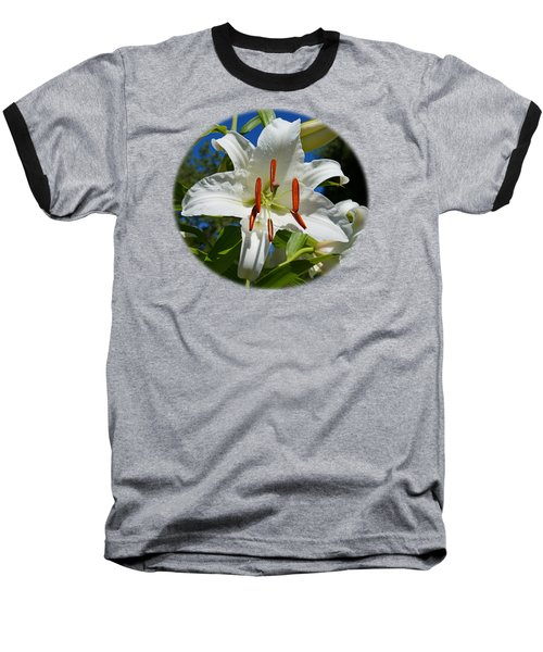 Newly Opened Lily Baseball T-Shirt by Nick Kloepping