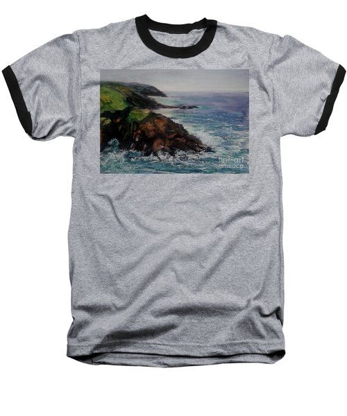 Newlyn Cliffs 2 Baseball T-Shirt