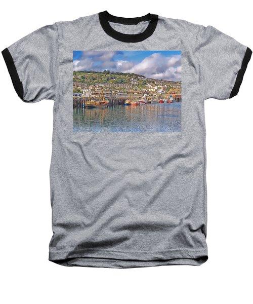 Newlyn Harbour Cornwall 2 Baseball T-Shirt
