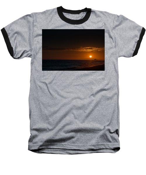 Newport Beach Sunset Baseball T-Shirt by Ralph Vazquez