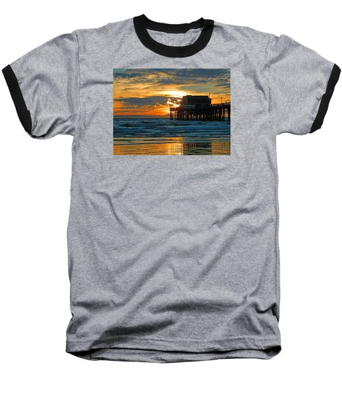 Newport Pier,  California Baseball T-Shirt by Everette McMahan jr