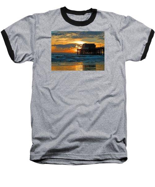Newport Pier,  California Baseball T-Shirt