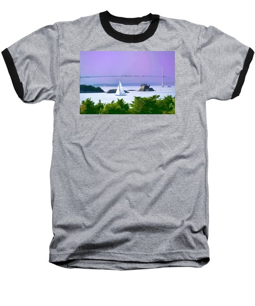 Newport Water Color Effect Baseball T-Shirt by Tom Prendergast