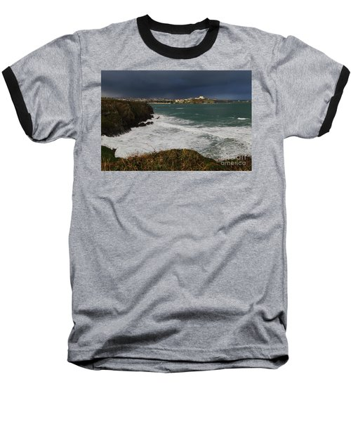 Baseball T-Shirt featuring the photograph Newquay Squalls On Horizon by Nicholas Burningham