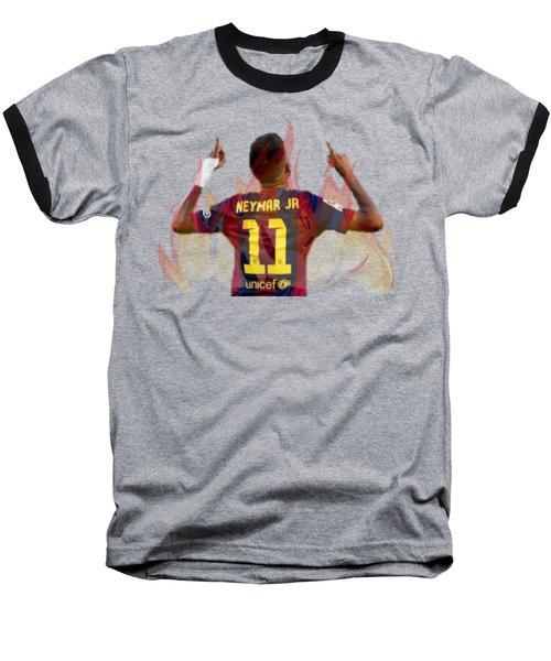 Neymar Baseball T-Shirt by Vincenzo Basile