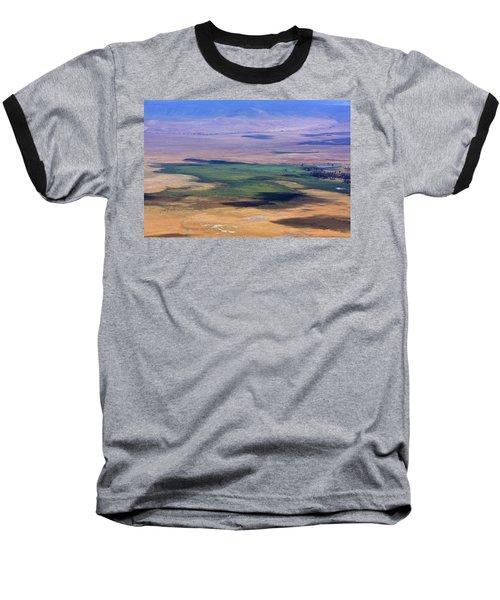 Ngorongoro Crater Tanzania Baseball T-Shirt by Aidan Moran