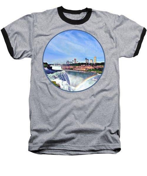 Niagara Falls Ny - Under The Rainbow Baseball T-Shirt