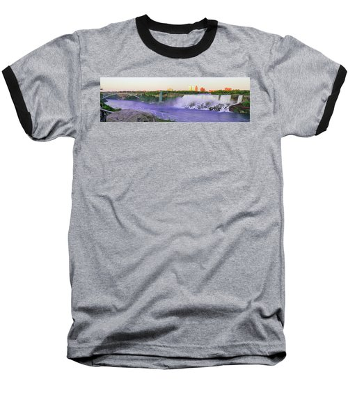 Niagara Falls At Dusk Baseball T-Shirt