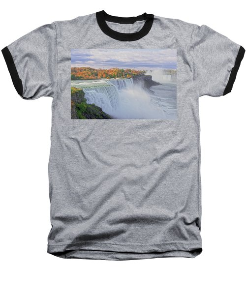 Niagara Falls In Autumn Baseball T-Shirt