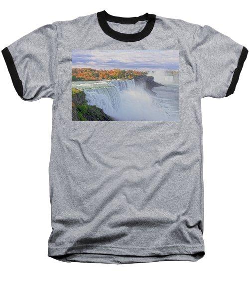 Niagara Falls In Autumn Baseball T-Shirt