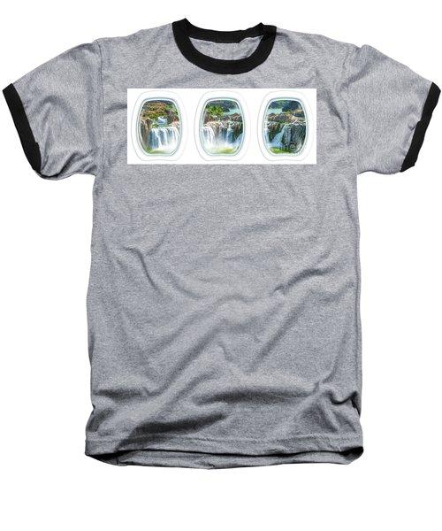 Niagara Falls Porthole Windows Baseball T-Shirt