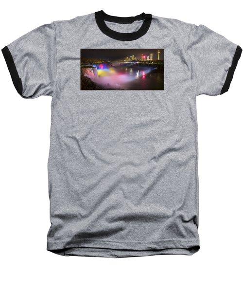 Baseball T-Shirt featuring the photograph Niagara Rainbow by Mark Papke