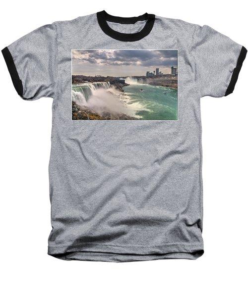 Niagra Waterfalls Baseball T-Shirt