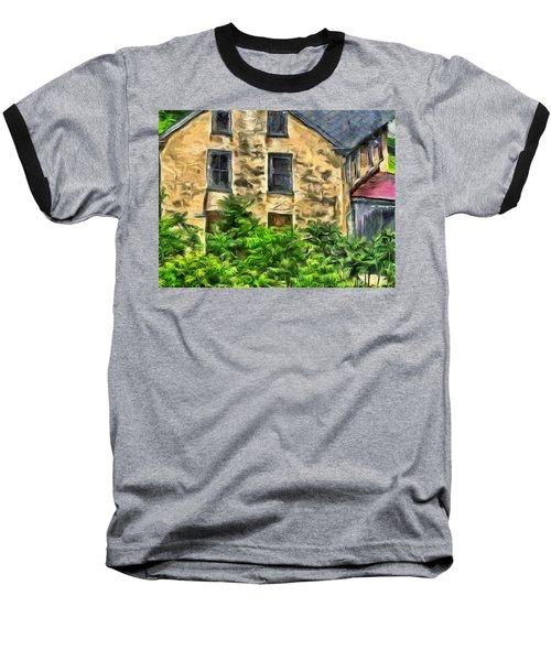 Baseball T-Shirt featuring the mixed media Niccolo by Trish Tritz