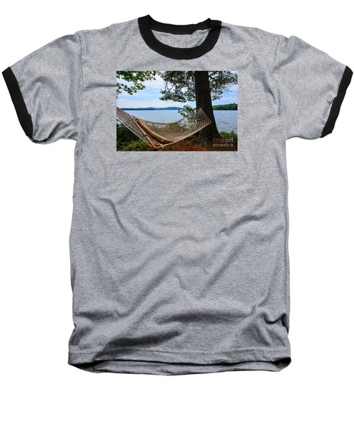 Nice Spot For A Nap Baseball T-Shirt by Mim White
