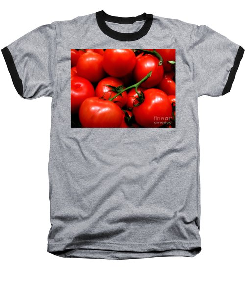 Nice Tomatoes Baby Baseball T-Shirt by RC DeWinter