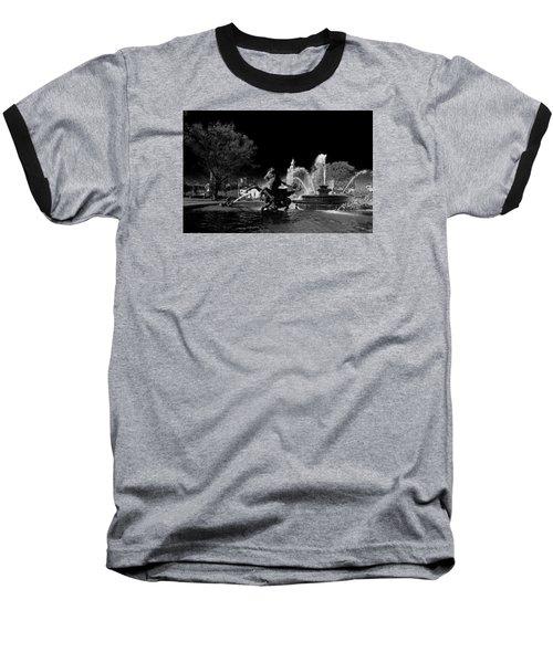 Baseball T-Shirt featuring the photograph Nichols Fountain by Jim Mathis