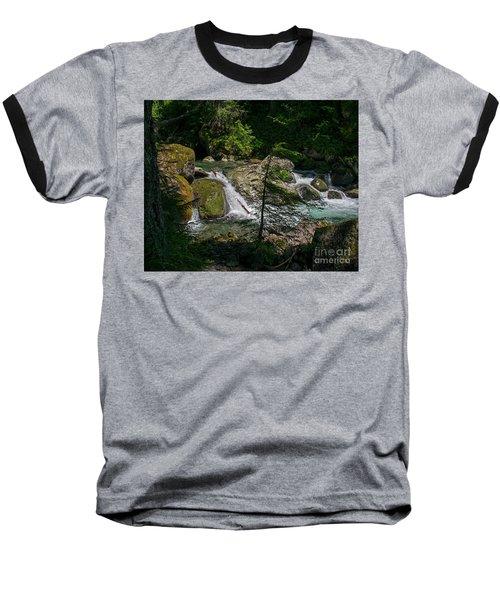Nickel Creek 0715 Baseball T-Shirt by Chuck Flewelling