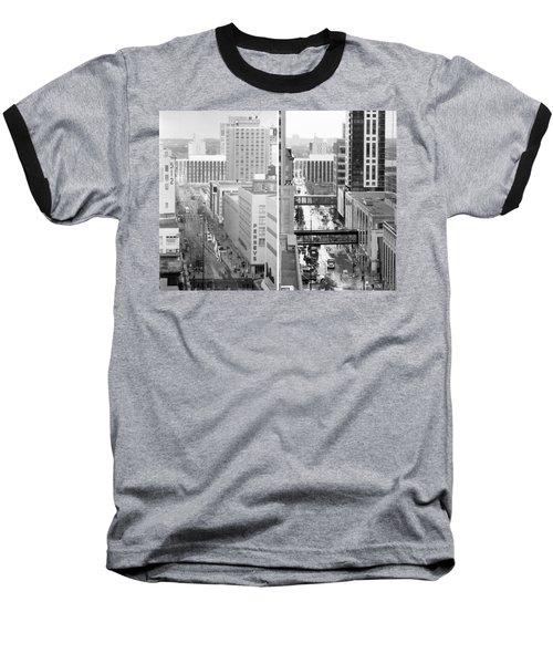 Nicollet Mall From Dayton's 12th Floor Baseball T-Shirt