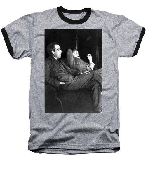 Niels Bohr And Albert Einstein Baseball T-Shirt