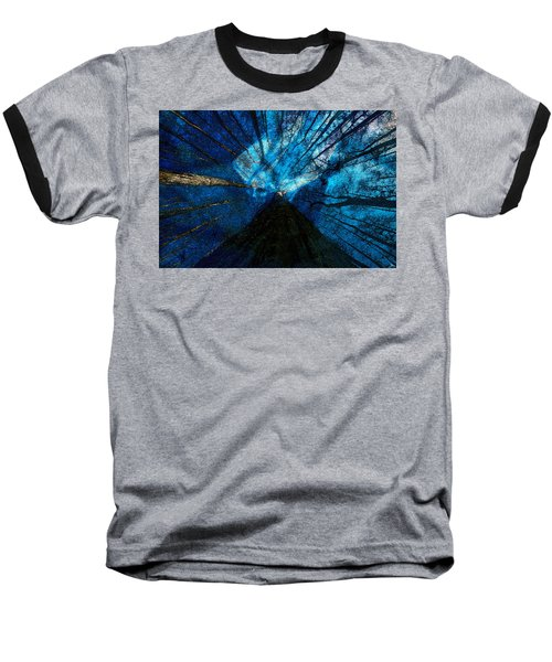 Baseball T-Shirt featuring the painting Night Angel by David Lee Thompson