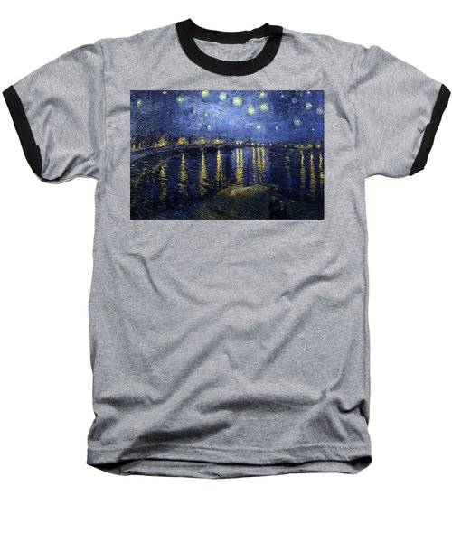 Night At The Lake Baseball T-Shirt by Sumit Mehndiratta