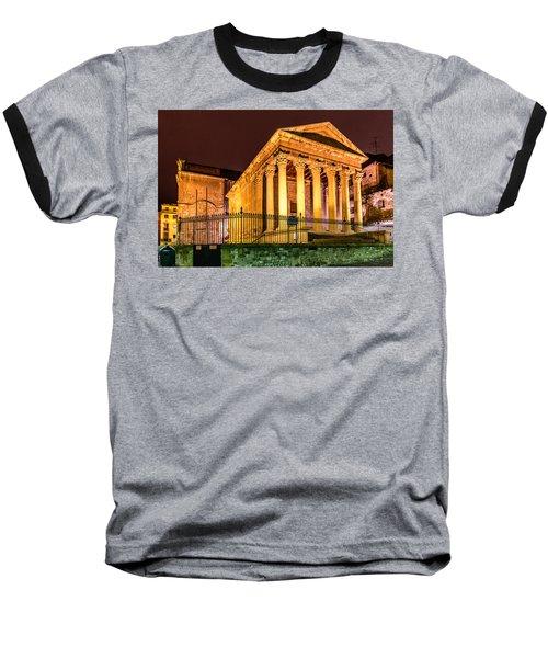 Night At The Roman Temple Baseball T-Shirt by Randy Scherkenbach