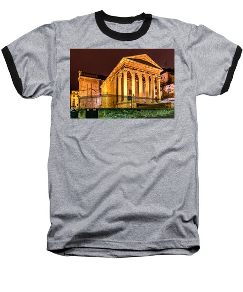 Night At The Roman Temple Baseball T-Shirt