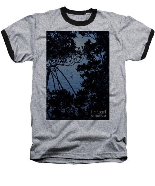 Baseball T-Shirt featuring the photograph Night Banana Spider by Megan Dirsa-DuBois