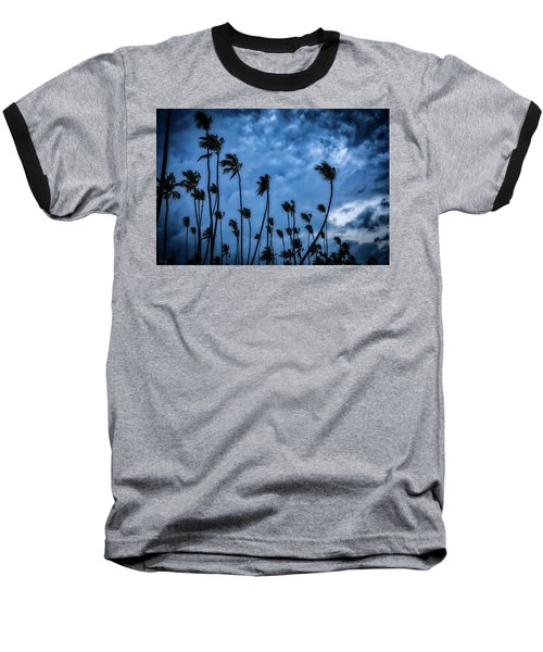 Night Beach Baseball T-Shirt
