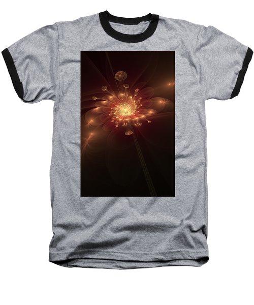 Night Bloom Baseball T-Shirt by Svetlana Nikolova