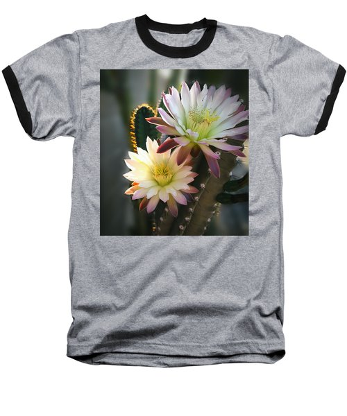 Baseball T-Shirt featuring the photograph Night-blooming Cereus 3 by Marilyn Smith