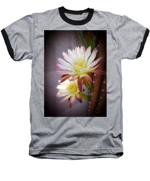 Baseball T-Shirt featuring the photograph Night Blooming Cereus by Marilyn Smith
