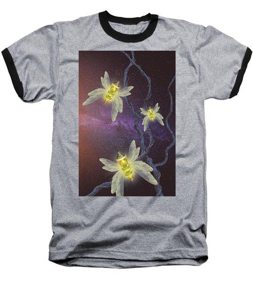 Night Butterflies Baseball T-Shirt