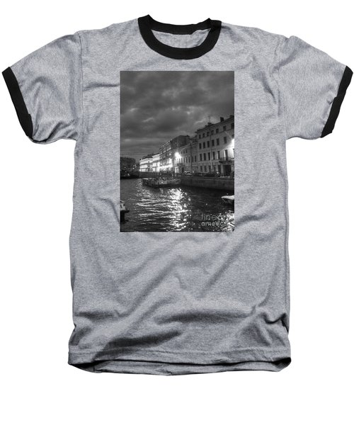 Night City Peterburg Baseball T-Shirt by Yury Bashkin