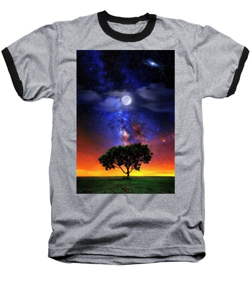 Night Colors Baseball T-Shirt by Justin Kelefas