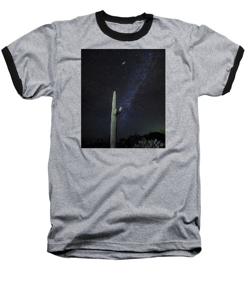 Night Desert Skies Baseball T-Shirt