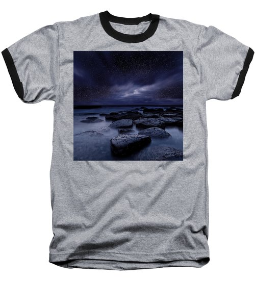 Night Enigma Baseball T-Shirt by Jorge Maia