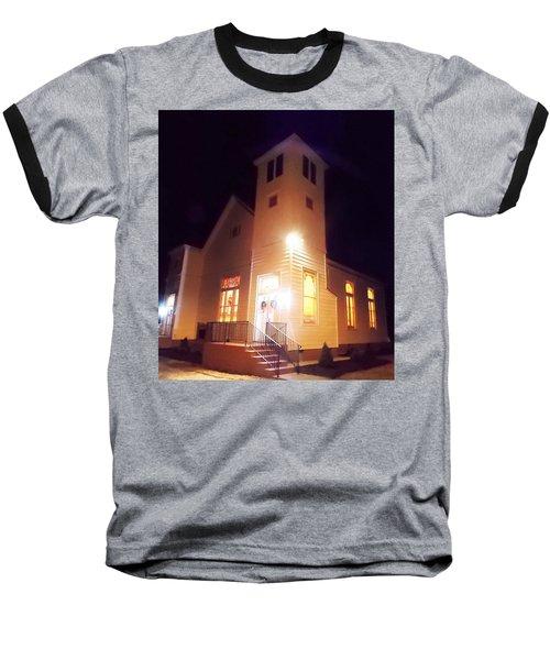 Night Exterior Baseball T-Shirt