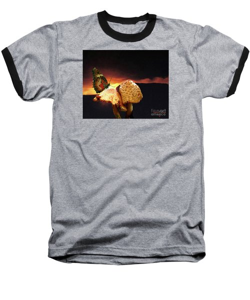 Baseball T-Shirt featuring the photograph Night Fall by Donna Brown