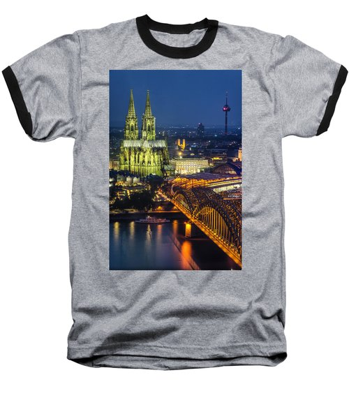 Night Falls Upon Cologne 1 Baseball T-Shirt