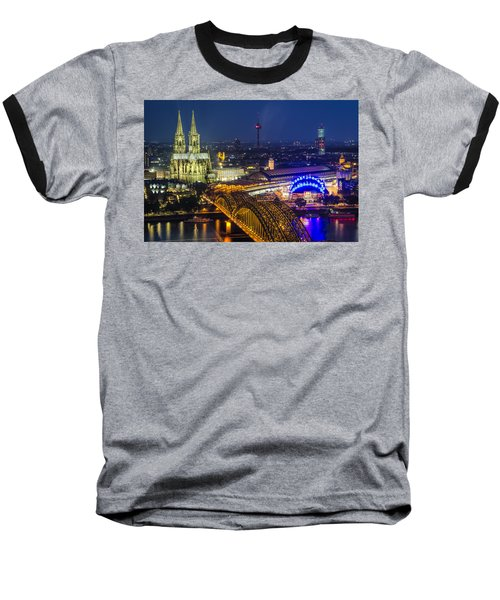 Night Falls Upon Cologne 2 Baseball T-Shirt