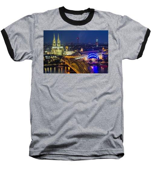Night Falls Upon Cologne 2 Baseball T-Shirt