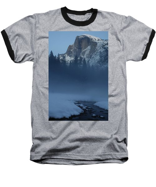 Baseball T-Shirt featuring the photograph Night Falls Upon Half Dome At Yosemite National Park by Jetson Nguyen