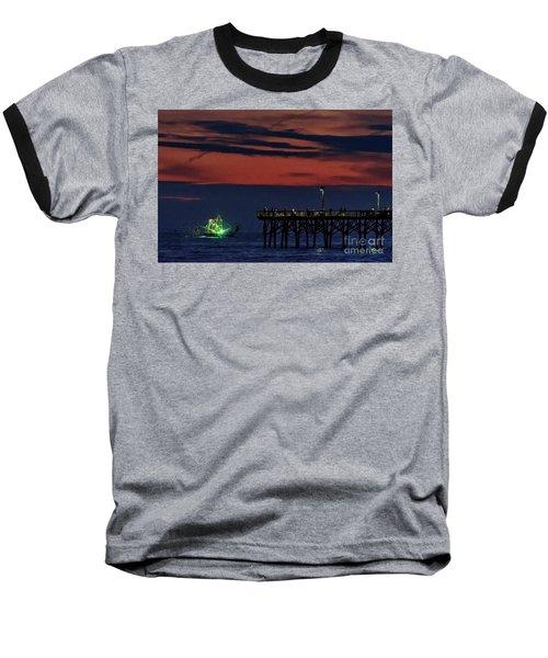 Night Fishing Baseball T-Shirt